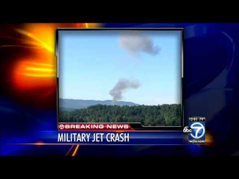F-15 jet crashes on mountainside in Deerfield, Va.