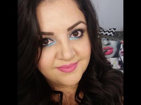 Maquillaje de Ojos Platiado y Turqueza (Aqua)