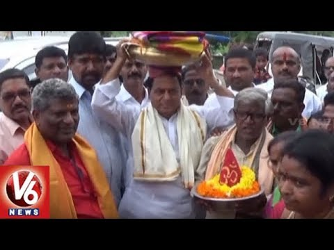 Minister Indrakaran Reddy Participate In Bonalu Festival Celebrations | Nirmal | V6 News