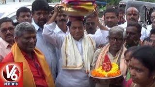 Minister Indrakaran Reddy Participate In Bonalu Festival Celebrations | Nirmal
