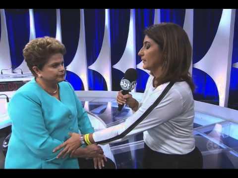 Dilma Rousseff e Aécio Neves falam sobre o debate no SBT