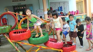 Những Trò Chơi Hay Nhất Ở Trường Mầm Non ❤ Trò Chơi Trẻ Em ❤ Trò Chơi Đánh Đu, Cầu Trượt!!!