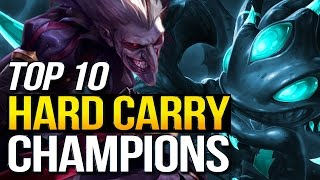 Top 10 SOLO HARD CARRY Champions In Preseason 7 (League of Legends)