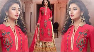 Latest Stylish Asian Shrara/top/dopata Suit for Bridel and Party Wear