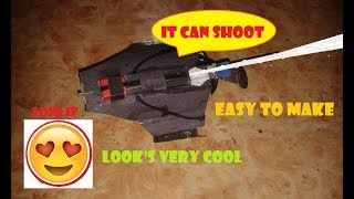 """""""shooting HC web shooter """" how to make (spider man (HC) web shooter) that can shoot"""