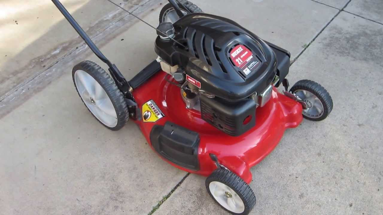 Huskee 21 Inch Mulching Lawn Mower Youtube
