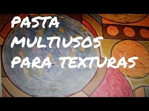 Diy pasta para texturas y estucos youtube for Como hacer cuadros con espejos