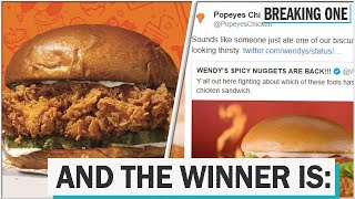 Popeyes and Chick-fil-A feud on social media over the best chicken sandwich