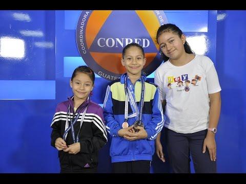 Mini CONRED, Samantha entrevista a Karla y Jimena Pérez Blanco, gimnastas guatemaltecas