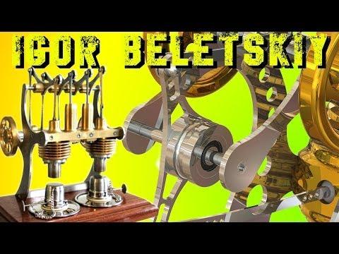 ДВУХЦИЛИНДРОВЫЙ ДВИГАТЕЛЬ СТИРЛИНГА  ЛАНДАУ ЦЕНТР Bohm Stirling motor HB5 - AL2 ( ИГОРЬ БЕЛЕЦКИЙ )