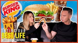 Honest Impossible Whopper Review: Burger King Cheat Day | EATING OUR BEST LIFE