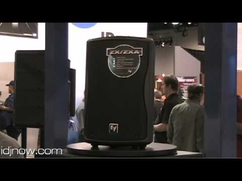 ELECTROVOICE ZXA1 COMPACT POWERED LOUDSPEAKER AT NAMM 2010 WITH IDJNOW