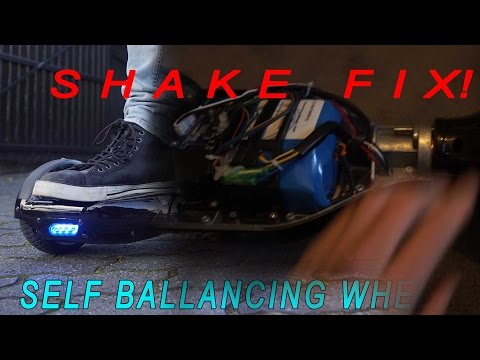 How to fix! shake vibrate dismount problem with self ballance scooter. segway. hoverboard. swegway