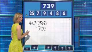 Countdown Rachel Riley see through dress thong 2014