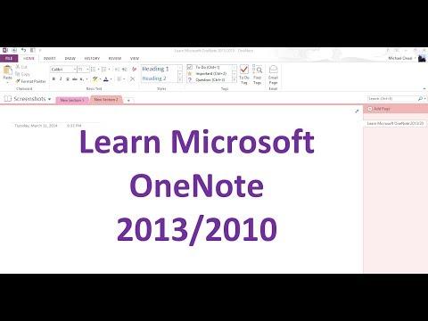 Learn Microsoft OneNote 2013 Lesson 1