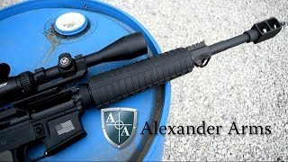 Shooting the Alexander Arms 17 HMR AR-15 Semi-Automatic Rifle - Gunblast.com