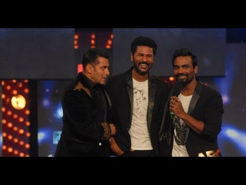 Salman Khan, Prabhudeva, and Remo at Bigg Boss 6 Grand Finale