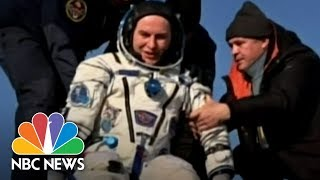 Space Station Astronauts Touch Down After Months Orbiting Earth | NBC News