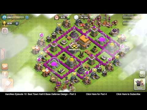 BEST Town Hall Level 6 (TH6) Base Defense Design Layout Strategy for Clash of Clans - Part 3