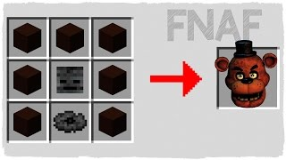 HOW TO SUMMON FNAF - MINECRAFT CRAFTING FREDDY FAZZBEAR
