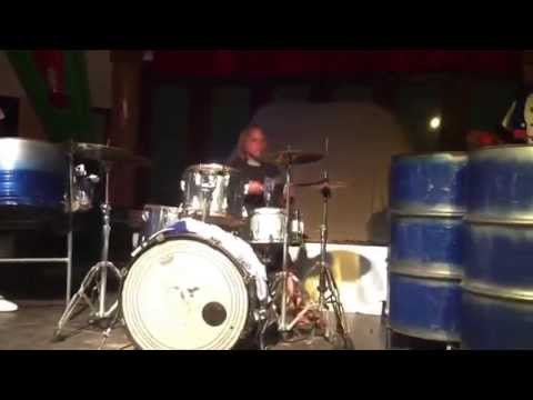 Stevie jams w/ Silverbirds steel drum band in Jamaica