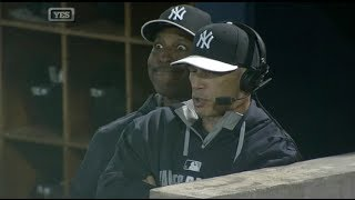 Most epic video bomb in baseball - Willie Randolph on Joe Girardi during Yankees game