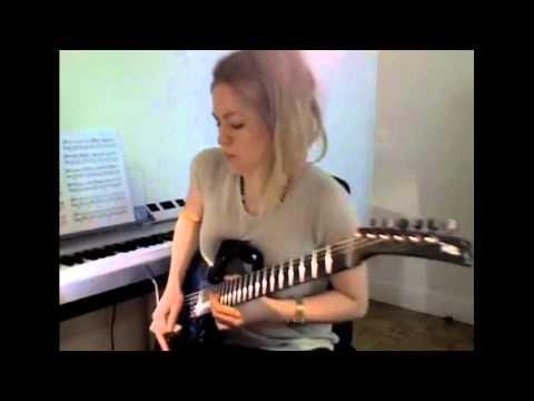 Girl Shreds On Guitar