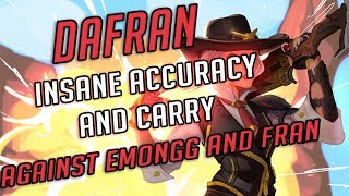 INSANE ACCURACY AND CARRY VS EMONGG AND FRAN !!