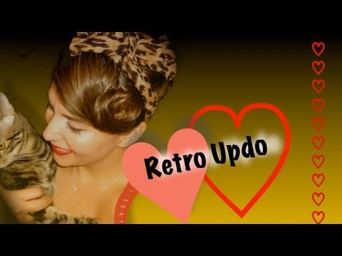 Simple Retro Pin Up Hair Style - Victory Roll