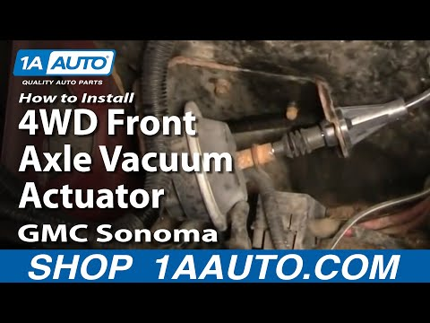 How To Install Replace 4WD Front Axle Vacuum Actuator GMC S15 Sonoma Chevy Blazer 1AAuto.com