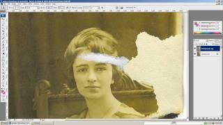 Adobe Photoshop old photo restoration - photo touchup