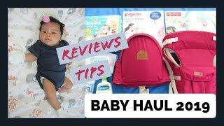 BABY HAUL 2019 + REVIEW + LAZADA TIP