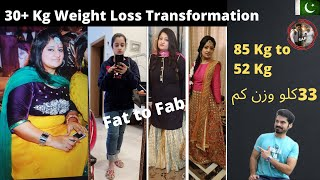 30kg + Weight Loss Transformation |85kg to 52kg |Fat to Fab |Keto