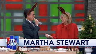 Martha Stewart Brings Delicious Holiday Cheer To The Late Show