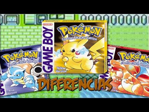 Diferencias Pokémon Rojo/Azul/Amarillo