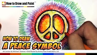 How to Draw a Peace Symbol - Art for Kids | MAT