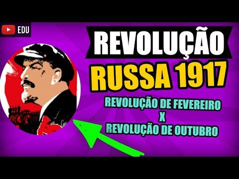 REVOLUÇÃO RUSSA Resumo Revolução Bolchevique e Menchevique Revolução de Fevereiro e Outubro #4