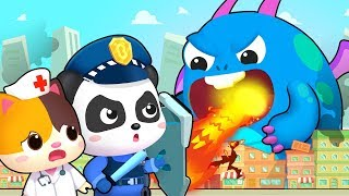 Hero Team vs Big Monster | Firefighter Song, Police Cartoon | Nursery Rhymes | Kids Songs | BabyBus