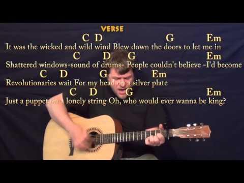 Viva La Vida (Coldplay) Strum Guitar Cover Lesson with Chords, Lyrics