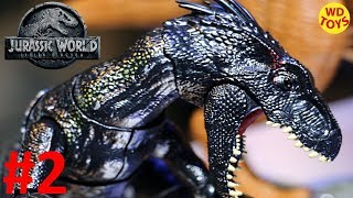 JURASSIC WORLD FALLEN KINGDOM INDORAPTOR DINOSAUR TOYS DEMO #2 TOY FAIR 2018  T-REX MATTEL UNBOXING