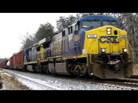 CSX Trains with Good Power, RS3L Horn, and X787 Power Move