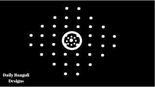 Pongal Kolam Designs #17   Sankranthi Muggulu   Kolam Rangoli 8X2X2 Dots   Easy Simple Color Kolam