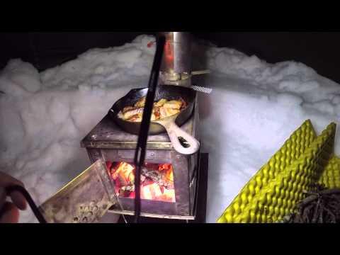 Hot Tent BushCraft Dinner Winter Overnight Backpacking
