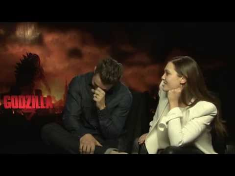 Godzilla - Interview with Aaron Taylor-Johnson & Elizabeth Olsen - ROCKKLASSIKER