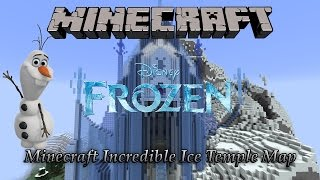 Minecraft Incredible Ice Temple Map From The Disnep Movie Frozen (Download)