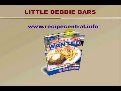 Recipe Central Free Recipe: Little Debbie Bars