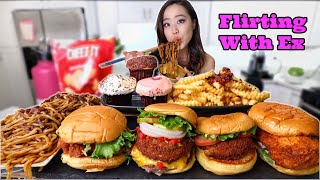 My Biggest Cravings (BURGER + CUPCAKES + NOODLE) MUKBANG | Eating Show