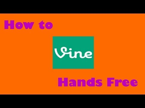 How To Record Vine With No Hands  (no Jailbreak) video