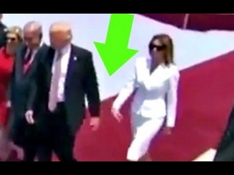 Melania REFUSED To Hold President Trump's Hand by swatting it away