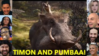 Reactors Reactions To Timon And Pumbaa Reveal | The Lion King